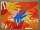 Hände Farbflächen