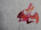 Rotes Fantasiewesen